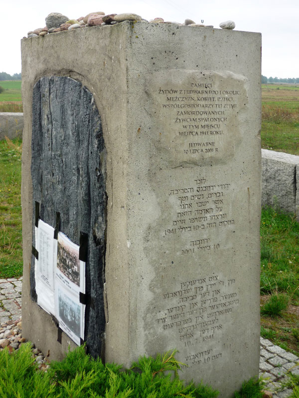 Memorial in Jedwabne, Wikimedia Commons, August 2009.