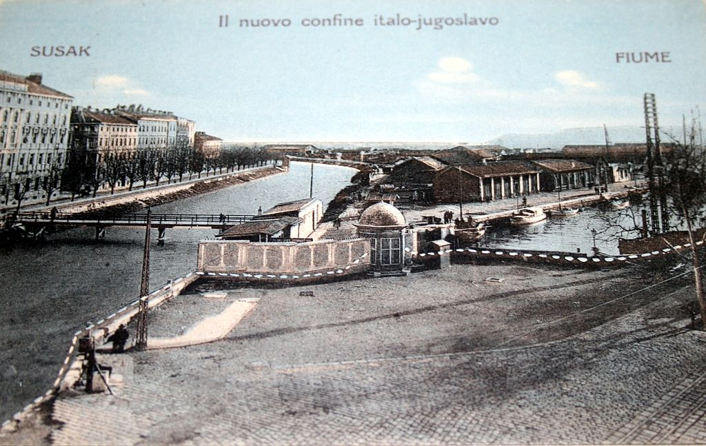 Postcard of Sušak and Fiume, 1925