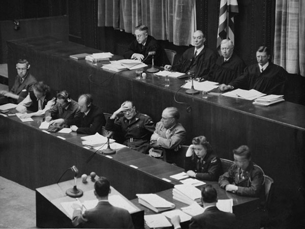 The judges at the Nuremberg Trial