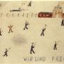 """Thomas Geve """"Wir sind frei"""", Nr. 73, 15 x 10cm, Bleistift, Farbstift und Wasserfarben auf Papier, Buchenwald 1945. Mit freundlicher Genehmigung von Thomas Geve."""