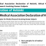 Declaration of Helsinki, adopted by the 18th General Assembly of the World Medical Association in June 1964 and amended several times